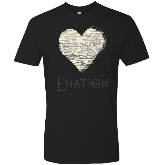 ENATION Unisex Black Heart Tee
