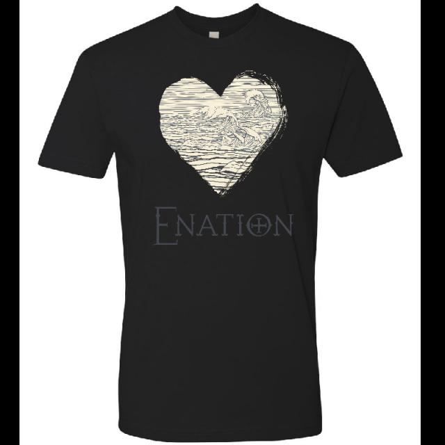 ENATION Unisex Black Heart Tee